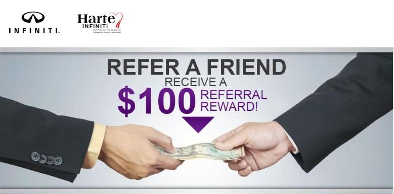 Refer A Friend To Harte Infiniti For A 100 Bonus Referwise